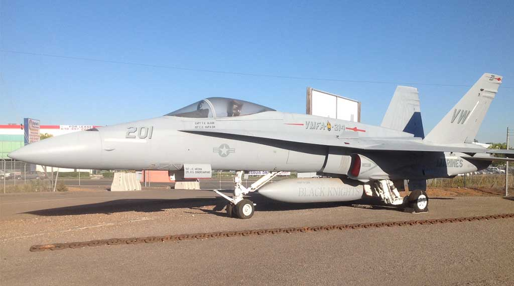 FA-18 Hornet at Flying Leatherneck Aviation Museum
