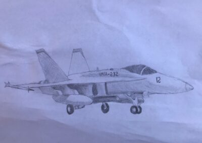 """Artwork titled """"Protecting America"""" by Jacob Beach, Correia Middle School"""