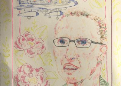 "Artwork titled ""Women in Flight"" by Anastasia Birmingham of Correia Middle School"