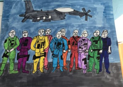 """Artwork titled """"Freedom in Color"""" by Makena'aloha Garcia of Correia Middle School"""