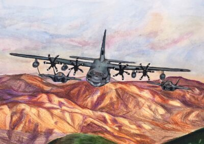"""Artwork titled """"Semper Fi"""" by Isabel Pope of Westview High School"""