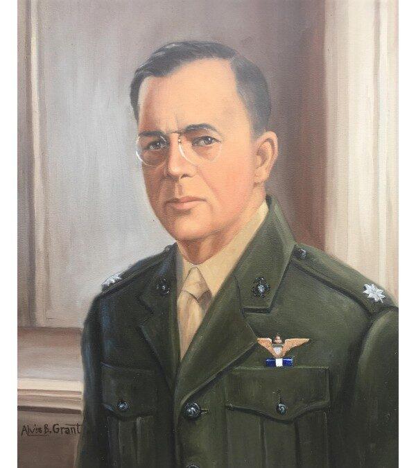 Alvis Grant portrait of Lt Col Alfred Cunningham